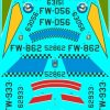 ED48-132 North American F-100D Supersabre Collection Pt1 Decals transfers