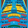 ED72-131 North American F-100D Supersabre Collection Pt1 Decals transfers