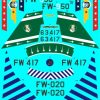 ED72-134 North American F-100D Supersabre Collection Pt4 Decals transfers