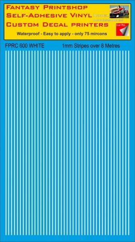 FPRC600 1mm vinyl RC stripes White