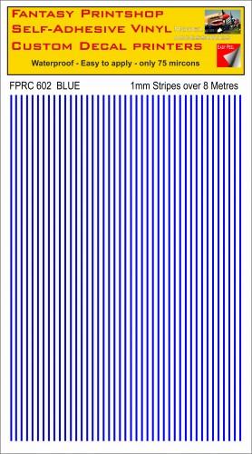 FPRC602 1mm vinyl RC stripes BLUE
