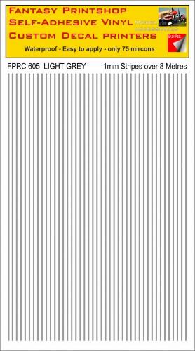 FPRC605 1mm vinyl RC stripes LIGHT GREY