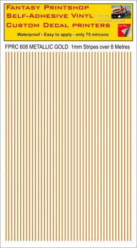 FPRC608 1mm vinyl RC stripes METALLIC GOLD