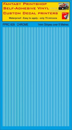 FPRC609 1mm vinyl RC stripes CHROME