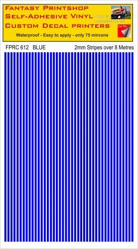 FPRC612 2mm vinyl RC stripes BLUE