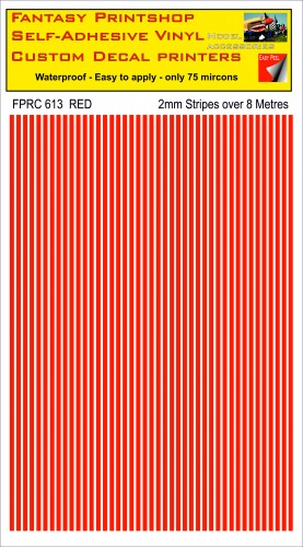 FPRC613 RED 2mm stripes