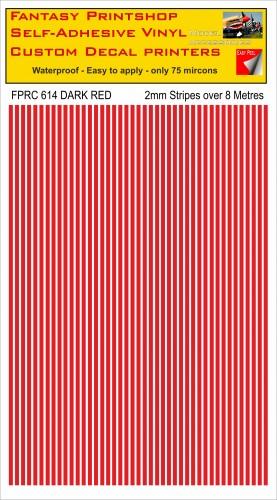 FPRC614 2mm vinyl RC stripes DARK RED