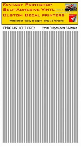 FPRC615 2mm vinyl RC stripes LIGHT GREY