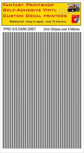 FPRC616 2mm vinyl RC stripes DARK GREY