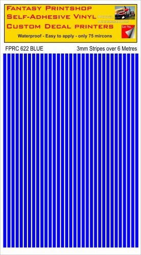 FPRC622 3mm vinyl RC stripes BLUE