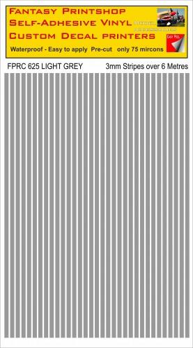 FPRC625 3mm vinyl RC stripes LIGHT GREY