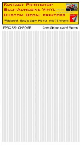 FPRC629 3mm vinyl RC stripes CHROME