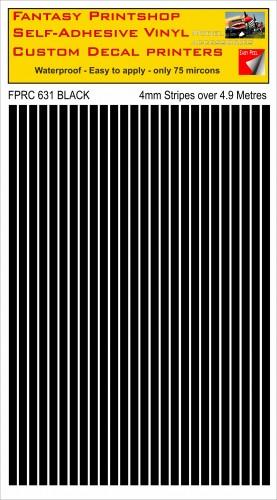FPRC631 Black 4mm vinyl RC stripes