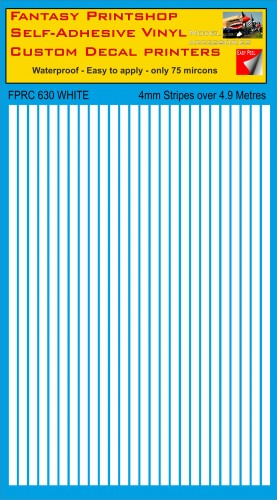 FPRC630 4mm vinyl RC stripes White