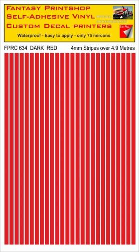 FPRC634 DARK RED 4mm vinyl RC stripes