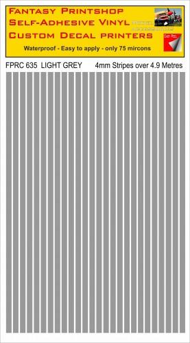 FPRC635 LIGHT GREY 4mm vinyl RC stripes