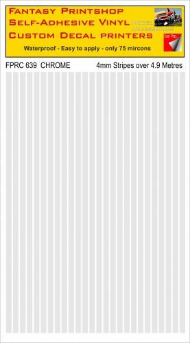 FPRC639 CHROME 4mm vinyl RC stripes