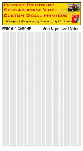 FPRC649 Chrome 5mm vinyl RC stripes