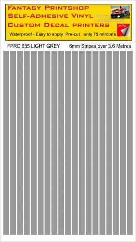 FPRC655 Light Grey 6mm vinyl RC stripes