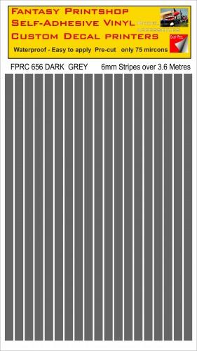 FPRC656 Dark Grey 6mm vinyl RC stripes