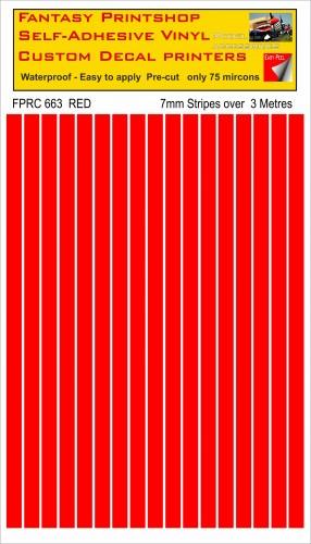 FPRC663 RED 7mm vinyl RC stripes