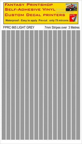 FPRC665 LIGHT GREY 7mm vinyl RC stripes