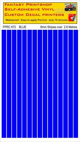 FPRC672 BLUE 8mm stripes