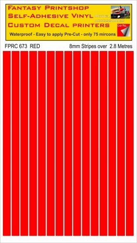 FPRC673 RED 8mm stripes