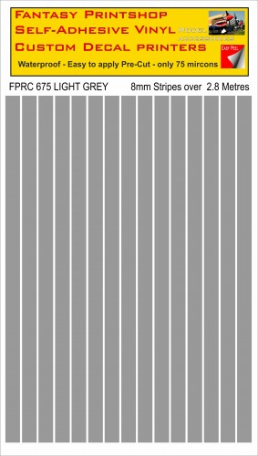 FPRC675 LIGHT GREY 8mm stripes
