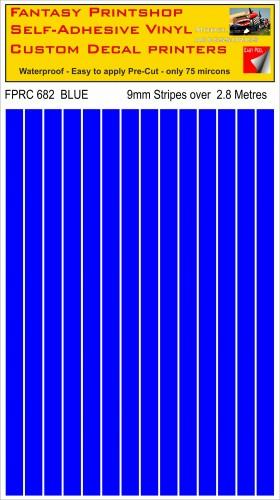 FPRC682 Blue 9mm RC vinyl stripes