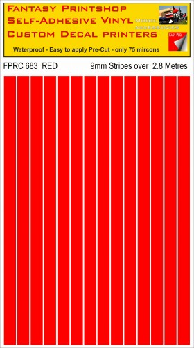 FPRC683 Red 9mm RC vinyl stripes