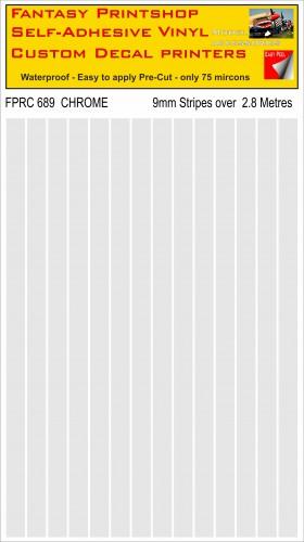 FPRC689 Chrome 9mm RC vinyl stripes