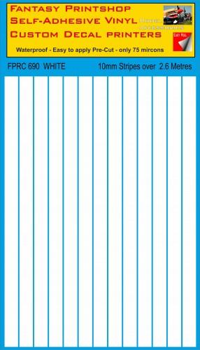 FPRC690 white 10mm vinyl RC stripes