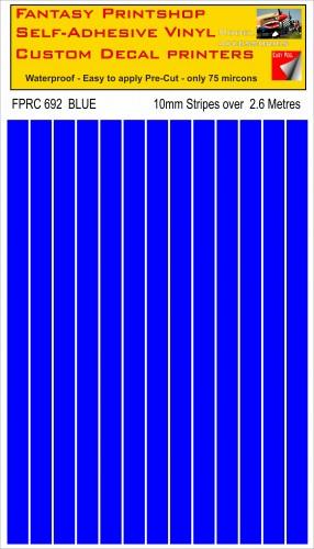 FPRC692 Blue 10mm vinyl RC stripes