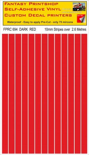 FPRC694 Dark Red 10mm vinyl RC stripes
