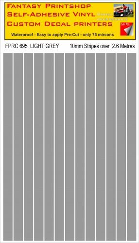 FPRC695 Light Grey 10mm vinyl RC stripes
