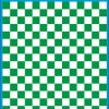 Fantasy Printshop A5 GREEN chequered 10MM squares on white background vinyl stickers FPRC710G