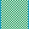 Fantasy Printshop A5 GREEN chequered 6MM squares on white background vinyl stickers FPRC706G