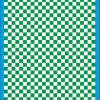 Fantasy Printshop A4 GREEN chequered 8MM squares on white background vinyl stickers FPRC708G