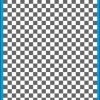 Fantasy Printshop A5 GREY chequered 6MM squares on white background vinyl stickers FPRC706GR