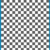 Fantasy Printshop A5 GREY chequered 8MM squares on white background vinyl stickers FPRC708GR