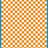 Fantasy Printshop A4 ORANGE chequered 10MM squares on white background vinyl stickers FPRC710OR