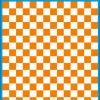Fantasy Printshop A5 ORANGE chequered 10MM squares on white background vinyl stickers FPRC710OR