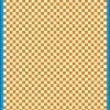 Fantasy Printshop A5 ORANGE chequered 4MM squares on white background vinyl stickers FPRC704OR