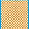 Fantasy Printshop A4 ORANGE chequered 6MM squares on white background vinyl stickers FPRC706OR