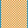 Fantasy Printshop A5 ORANGE chequered 6MM squares on white background vinyl stickers FPRC706OR