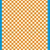 Fantasy Printshop A4 ORANGE chequered 8MM squares on white background vinyl stickers FPRC708OR
