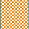 Fantasy Printshop A5 ORANGE chequered 8MM squares on white background vinyl stickers FPRC708OR
