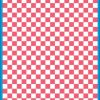 Fantasy Printshop A4 PINK chequered 10MM squares on white background vinyl stickers FPRC710P