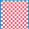 Fantasy Printshop A5 PINK chequered 10MM squares on white background vinyl stickers FPRC710P